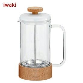 【25日は店内全品ポイント5〜20倍!】イワキ iwaki SNOWTOP (スノートップ) コーヒープレス 480ml K6405-M /耐熱ガラス製 /AGCテクノグラス JAN: 4905284155292 【送料無料】 [T]