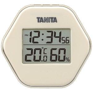 ★【お値引クーポン配布中!】タニタ TANITA デジタル温湿度計 TT-573 アイボリー TT-573-IV
