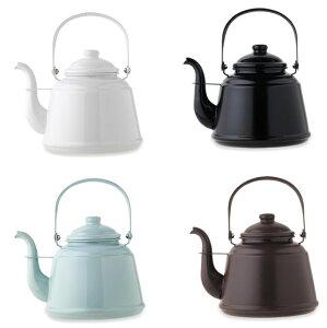 日本製 レトロホーローケトル 湯沸かし やかん 薪ストーブ ガス IHクッキングヒーター 加熱 お茶 コーヒー 暖かい飲み物 ファイヤーサイド