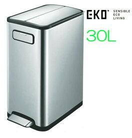 ゴミ箱 ダストボックス フタ付き 足踏み EKO エコフライ ステップビン 30L EK9377 スリムで オシャレ キッチン 生ごみ オムツ 臭い 軽く踏んでフタが開閉