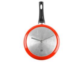 インテリア 掛け時計 デザイン時計 お鍋の形をした時計 Wall Clock metal red