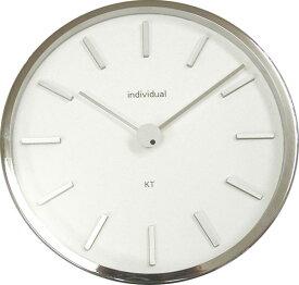 【ゆうパケット不可】インテリア 掛け時計 かけ時計 クラウンスチールクロック ホワイト オレンジ ブルー