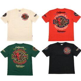 テッドマン TDSS-492 半袖抜染Tシャツ『RED DEVIL M.C』