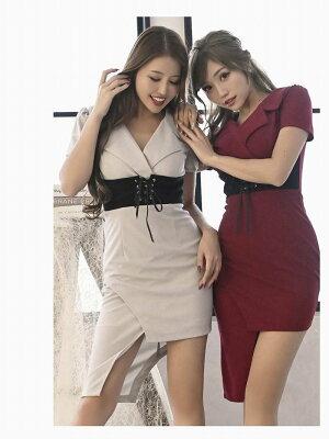 キャバドレスキャバドレスキャバクラミニドレスパーティードレスDaysPiece韓国風ミニドレス袖付きタイトあす楽