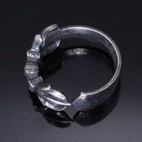 龍頭蛇指輪リングシルバースネーク和柄和風ギフトピンキー8号〜10号