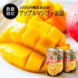 【送料無料】沖縄県産アップルマンゴー缶詰2缶化粧箱入り