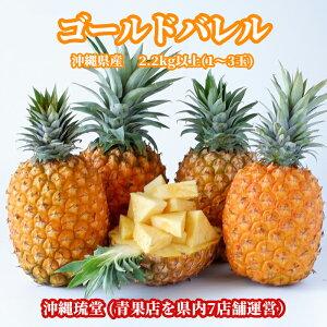 沖縄県産ゴールドバレル (国産最高級パイナップル) 2.2kg以上(1〜3玉)【送料無料・即出荷可】パイン パイナップル 沖縄 フルーツ