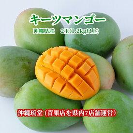 沖縄県産キーツマンゴー(幻のマンゴー) 2玉(1.2kg以上)【即発送可・送料無料】