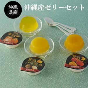 【送料無料】沖縄産 贅熟ゼリーセット マンゴー パイン 黄金シークワーサー 6個化粧箱入りギフト 贈答品