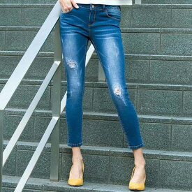 ●SALE!!セール●大人の控え目ダメージ加工デニム ryuryu/リュリュ 30代 40代 ファッション レディース 在庫処分 アウトレット