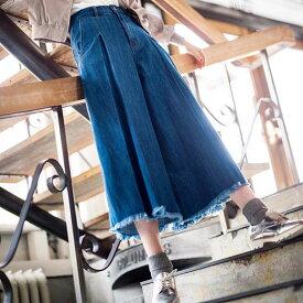 ワイドパンツ大きいサイズ レディース 秋 73サイズタックデザインデニムワイドパンツ(73) ryuryu リュリュ 30代 ファッション レディース バニ BANI 40代