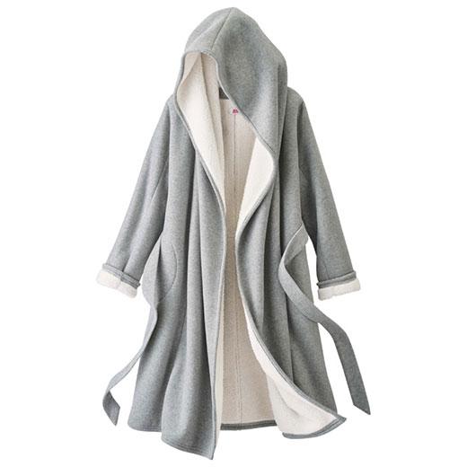 ロングコート S M LL L軽くてあったか総裏ボアガウンコート(S〜LL) ryuryu リュリュ 30代 ファッション レディース 白 ホワイト 40代