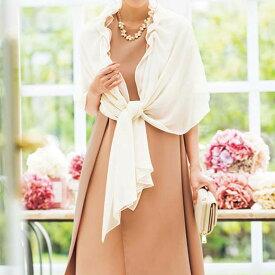 ●SALE!!セール●ズレ落ちないショール付バックプリーツドレス ryuryu/リュリュ 30代 40代 ファッション レディース 在庫処分 アウトレット