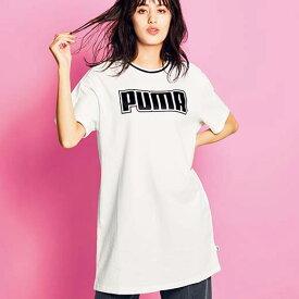【MAX1000円OFFクーポン配布中】チュニック S M L <PUMA>ロゴ使いロングTシャツ(S〜L) ryuryu リュリュ 大人 夏 夏服 シャツ ブラウス