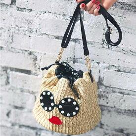 かばん フェイスモチーフ巾着バッグ ryuryu リュリュ レディース 夏 夏服 かばん バッグ 鞄 40代 レディースファッション