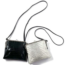 かばん クロコ型押しがま口ショルダーバッグ 40代 レディース 40代 レディースファッション ryuryu リュリュ 大人 夏 夏服 かばん バッグ 鞄