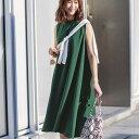 ワンピース S M L LL 3L フレアーシルエットワンピース(S〜3L) ryuryu リュリュ GeeRA ジーラ 20代 30代 40代 レディース ファッション 春 春服 夏 夏服 大人