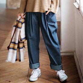 ワイドパンツ M L LL 3L ポケット付サーカスパンツ(M〜3L) 40代 レディースファッション ryuryu リュリュ 大人 秋 秋服 ボトムス パンツ 40代 ファッション 大きいサイズ