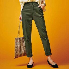 フルレングスパンツ S M L LL 3L 綿混ストレッチ美脚テーパードパンツ(S〜3L) 40代 レディースファッション ryuryu リュリュ 大人 秋 秋服 ロングパンツ 40代 ファッション 大きいサイズ
