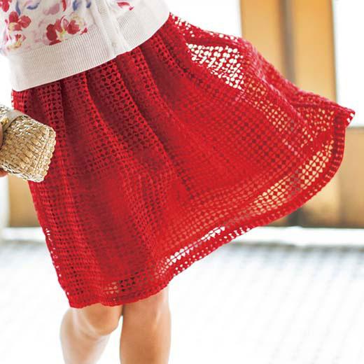 ●SALE!!セール●ふわ軽フレアーの幾何柄レーススカート ryuryu/リュリュ 30代 40代 ファッション レディース 在庫処分 アウトレット【SALE_0803】