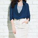 ●SALE!!セール●セレブ風リラックスシャツ ryuryu/リュリュ アウトレット 30代 ファッション レディース