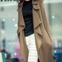 テロテロ素材ロングトレンチ ryuryu/リュリュ 30代 ファッション レディース