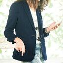 ジャケット/M/LL/Lヒップが少し隠れる着丈がどんなボトムも脚長バランスに。ウォッシャブル素材で気軽に着られるのがうれしいポイント。洗えるウール調ジャケット(M〜LL) ryuryu/リュリュ らな