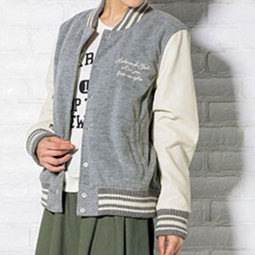 ●SALE!!セール●異素材切替中わたスタジャン ryuryu/リュリュ らなん 30代 ファッション レディース アウトレット【再販売】