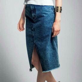 ●SALE!!セール●スリット入りレディーライクデニムスカート ryuryu/リュリュ 30代 40代 ファッション レディース 在庫処分 アウトレット