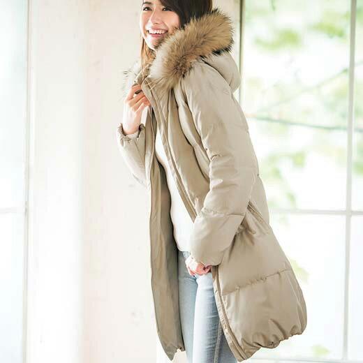 ダウンコート ロングコート 5L 4L 3Lリアルファー付ダウンコート(3L〜5L) ryuryu/リュリュ ラナン Ranan 30代 40代 ファッション レディース 大きいサイズ