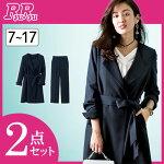 セットスーツ9号7号13号11号洗える!コートアップパンツスーツ(7号〜13号)ryuryu/リュリュラナンRanan30代40代ファッションレディース