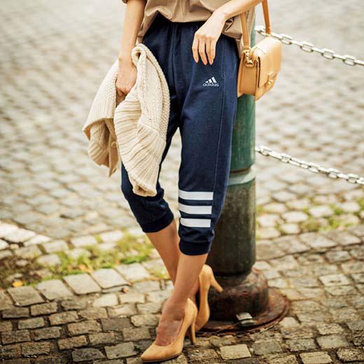 アディダス ボトムスS M L<adidas>デニムスウェットパンツ ryuryu/リュリュ ラナン Ranan 30代 40代 ファッション レディースボトムス レディース 母の日