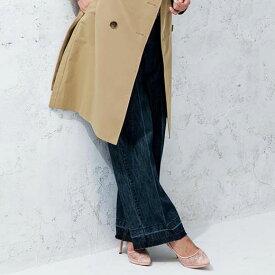 ロングパンツ 88 84 80 76きれい見えワイドデニム(76〜88) ryuryu/リュリュ 30代 40代 ファッション レディース 大きいサイズ ラナン Ranan 春服 フルレングス パンツ ロングパンツ