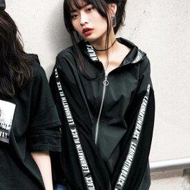 ブルゾン M LL Lメッシュ素材ロゴパーカーブルゾン(M〜LL) ryuryu リュリュ レディース バニ BANI 40代 レディースファッション