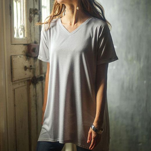 【50%ポイントバック スーパーDEAL】Tシャツ M LL L 3LレディゆるシルエットTシャツ ryuryu リュリュ ラナン Ranan 夏 30代 40代 ファッション レディース 半袖 シャツ トップス 白 母の日
