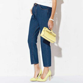 ●SALE!!セール●ストライプテーパードパンツ ryuryu/リュリュ 30代 40代 ファッション レディース 在庫処分 アウトレット