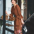 おうちクリーニングOK!今購入して春まで着たい40代におすすめの「花柄ワンピース」は?