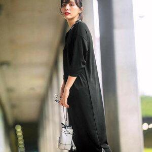 ワンピース 3L 春 春服 <FILA>ロゴテープ使いワンピース(3L) ryuryu リュリュ ラナン Ranan 30代 40代 ファッション レディース 大きいサイズ Sport