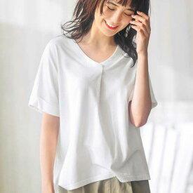 カットソー・プルオーバー 3LタックデザインTシャツ(3L) ryuryu/リュリュ 30代 40代 ファッション レディース 大きいサイズ GeeRA ジーラ 夏服 カットソー トップス チュニック