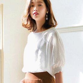 ブラウス 3Lスラブ素材シャーリングブラウス(3L) ryuryu/リュリュ 30代 40代 ファッション レディース 大きいサイズ GeeRA ジーラ 夏服 ブラウス