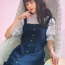 ジャンパースカート M LL L前ボタンデニムジャンスカ ryuryu/リュリュ 30代 40代 ファッション レディース GeeRA ジーラ 夏服 ボトムス スカート おしゃれ 上品