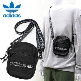 アディダス adidas ショルダー ミニバッグ(54)CM3815 ORI FESTIVAL BAG CROSSBODY Originals アディダスオリジナルス ブラックメンズ レディース 斜め掛け 鞄 かばん キャッシュレス ミニショルダー ポーチ (CPT)