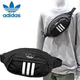 アディダス adidas ボディバッグ (53)CM3824 ORI NATL 3 STRIPES PACK Originals アディダスオリジナルス ブラックヒップバッグ ウエストポーチ バッグ メンズ レディース 鞄 かばん キャッシュレス (CPT)