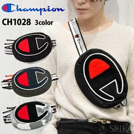 チャンピオン ChampionCH1028 ボディバッグ001(ブラック) 020(ダークグレー) 030(グレー/迷彩)メンズ レディース キッズ 子供 ストリート ショルダーバッグ (CPT)