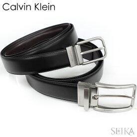 カルバンクライン CalvinKlein CK 75657 75661 ベルト ブラック ブラウン レザー 本革 メンズ リバーシブル REVERSIBLE BELT ギフト