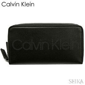 【Fashion THE SALE】【超目玉!】 カルバンクライン CALVINKLEIN ラウンドファスナー ダブルジップ 長財布 K60K606071 BDS(11) ブラック メンズ レディース サイフ (CPT)
