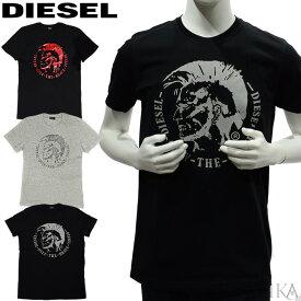 ディーゼル DIESEL Tシャツ 半袖 00ALNK R091B (14)900/BLACK (15)912/GREYメンズ 丸首 クルーネックブラック グレー ビックロゴ ブレイブマン Tシャツ アパレル(CPT)