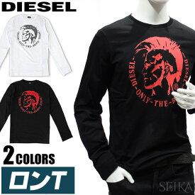 ディーゼル DIESEL ロンT 00SEY7 R091B 100/WHITE(7) 900/BLACK(48)メンズ 長袖 Tシャツ XXL 丸首ロゴ Tシャツ ビッグロゴ ブレイブマン ブラック ホワイト アパレル ギフト 大きいサイズ (CPT) (P5)