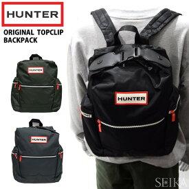 ハンター HUNTER UBB6017ACD BLK(10) DOV(11) NAVY(12) トップクリップ バックパック リュックサック ブラック ダークオリーブ ネイビー リュック カバン 鞄 バッグ通勤 通学 鞄 かばん ギフト