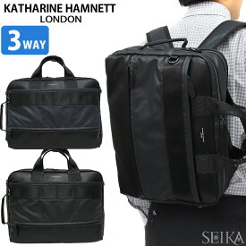 KATHARINE HAMNETT キャサリンハムネット ビジネスバッグ ブリーフケース リュック KH1647 3Way 10/ブラック(1) 40/ネイビー(2) リュック バックパック ショルダーバッグ ハンドバッグ 通勤 通学 鞄 かばん バッグ メンズ